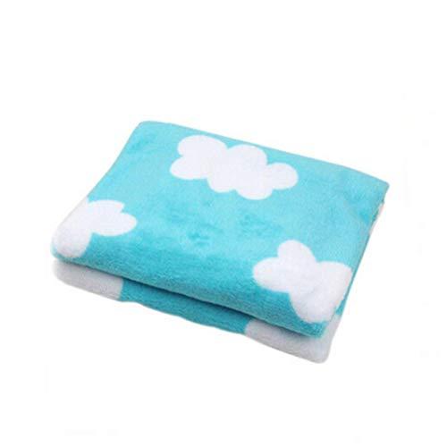 Ogquaton Premium-Qualität Multi Farben Single Layer Baby Plüsch Decke Mehrzweck-Klimaanlage Decke Nickerchen Decke Haustier Decke Baby Supplies Geburtstagsgeschenk, blau und weiß Wolke - Multi Farbe-plüsch