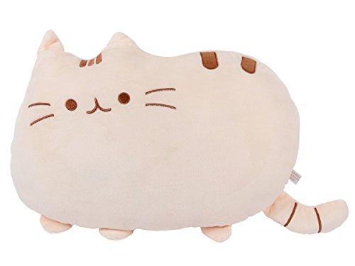 Cuscino decorativo peluche a forma gatto per divano molto morbido misure circa 40 x 30 x 10 cm confortevole decorazione idea regalo, Marca Alsino, Ki-56 gatto beige