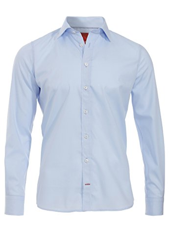 Pure Herren Business Hemd Blau