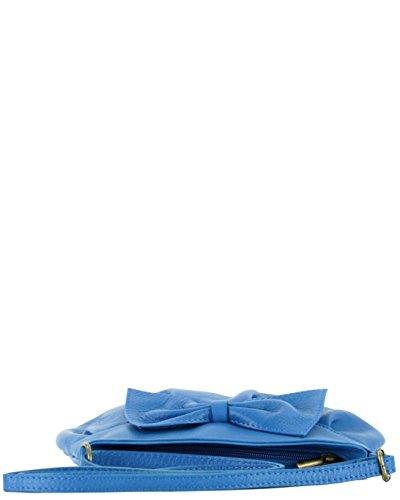 histoireDaccessoires - Pochette Pelle Donna - SA140223GG-Nadeja Blu Bis