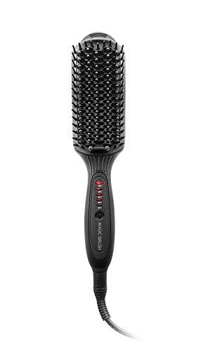 Macom 228 Straightening brush Negro 50W 2.5m Utensilio de peinado - Moldeador de pelo (Cepillo alisador, 200 °C, 30, 0.3, Negro, De plástico, Cerámico)