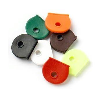 Meetory 24 Pcs Key Caps Cover Flexible Silicone Key Identifier Rings,Random Colors