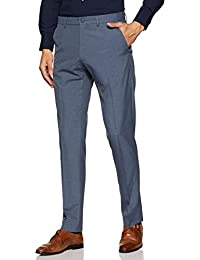 Herrenmode Hosen New Mens Marks & Spencer Blue Slim Trousers Waist 42 38 36 32 Leg 31 29