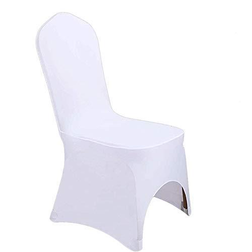 KHTO 10/50/100 STÜCKE Universal Polyester Spandex Stuhl Schonbezug für Hochzeiten Hotel Outdoor Party Decor Bankett Stuhlhussen (A,50)