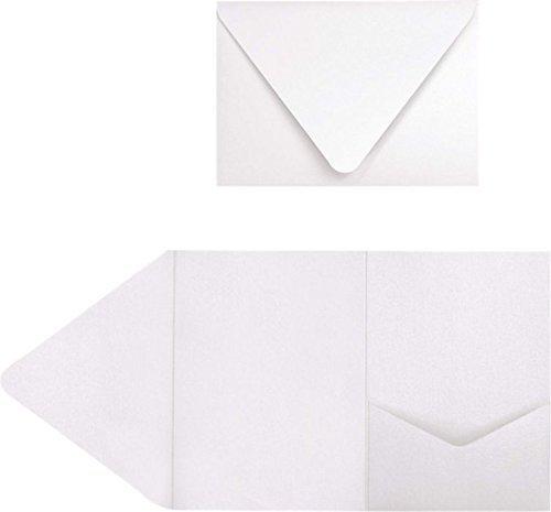 A7Pocket Einladungen (5x 7)-Kristall metallic (50Stück.) | perfekt für Einladung Suiten, Hochzeiten, Ankündigungen, VERSAND Karten, elegante Events | bedruckbar | ex10-lebacmpf-50 -