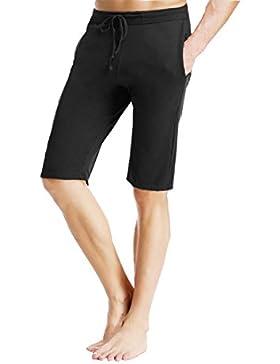 OKSakady Desgaste de los Pantalones Cortos del salón del algodón Suave del sueño de los Hombres, Pantalones Inferiores...