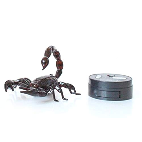 CHOULI Infrarot Fernbedienung Realistic Scorpion RC Streich Insekt Scary Trick Toy Schwarz
