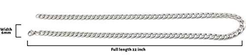 Saizen Ch025 Stainless Steel Silver Chain For Men/Boys