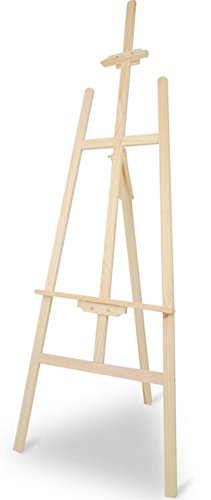 5ft Artist Easel A Frame Wooden 150cm High Adjustable Art Studio Display J145