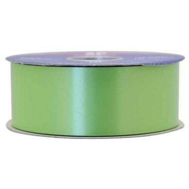 48mm Wide 100 Yards (91 Meters) Lime Green Apac Double Sided Poly Ribbon Spool Roll for Wedding Birthday Home Party Decoration Bow by Trimming