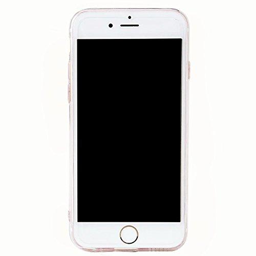 """iPhone 7Plus Handyhülle, iPhone 7Plus Liquid TPU Case, CLTPY Kreativ 3D Fließen Flüssig Bling Schwimmend Treibsand Herz, Glanz Shiny Kristallklar Schale Etui für 5.5"""" Apple iPhone 7Plus (Nicht iPhone  Schwarz Herz 3"""