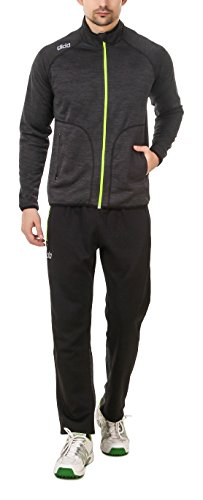 DIDA Men's Fleece Tracksuit (D1109DARKGREYMELANGE--M, Dark Grey, Medium)
