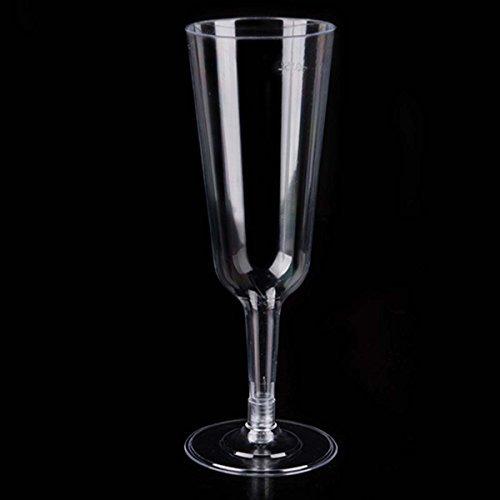 Kunststoff Champagner Flöten CLEAR Partybecher Hardcase Weingläser 5Oz farblos