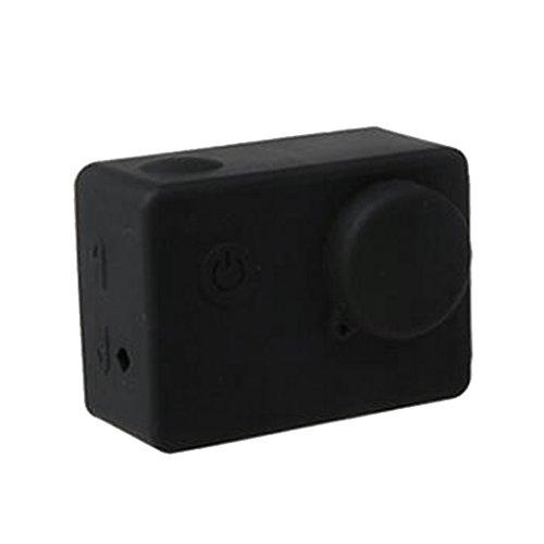 Funda Blanda Cubierta de Silicona Caja Protectora para Cámara Deportiva SJCAM SJ5000 Sjcam SJ4000 Varios Colores - Negro