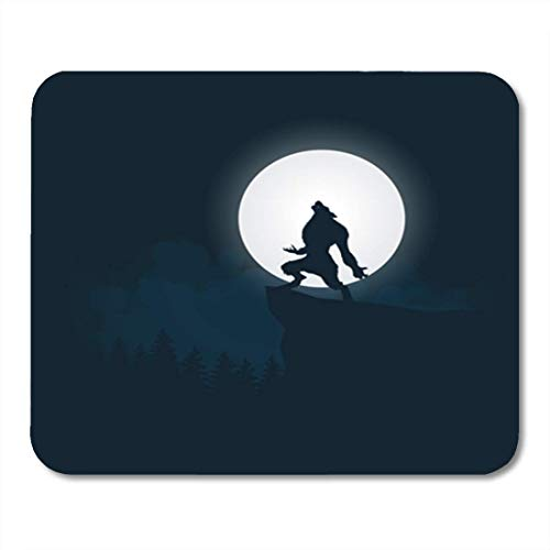 olf Silhouette Halloween Night Background with and Moon Moonlight Vector 11.8