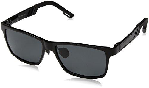 ELITERA Aluminium Magnesium polarisierte Mann Sonnenbrille für Sport Driving Reisen E6560 (Schwarz&Grau)