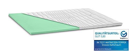 Kaltschaum Topper Matratzenauflage | 7 cm Gesamthöhe | Härte wählbar | abnehmbarer und waschbarer Bezug | Bezug wahlweise mit 3D-Mesh-Klimaband und Stegkanten | H2 - weich | Classic Bezug | 120 x 200 cm
