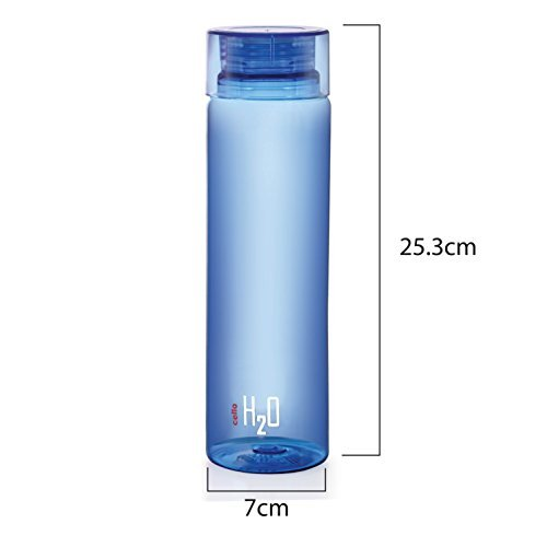 Cello H2O Unbreakable Bottle , 1 Litre, Set of 3, Colour May Vary