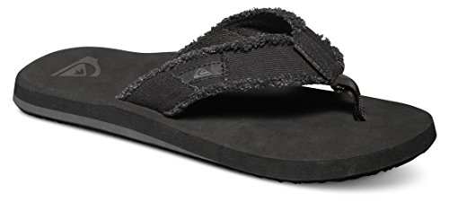 Quiksilver Monkey Abyss, Men's Flip Flop, Black (Black/Black/Brown), 9 UK (43 EU)