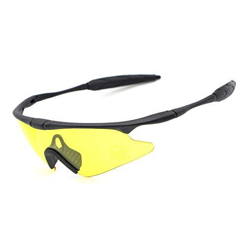 kamier Schießende taktische Schutzbrillenmotorradfahrrad-Reitbrille gelb
