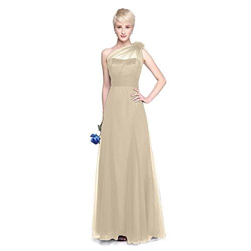 kekafu A-Line Scoop Neck Tee Länge Spitze Tüll Cocktail Party Homecoming prom Kleid mit Perlenstickerei Bug(s) Spitze Pearl mit Pailletten von QZ, Champagner, uns 14/UK 18 / EU 44 - A-line Scoop Natürliche
