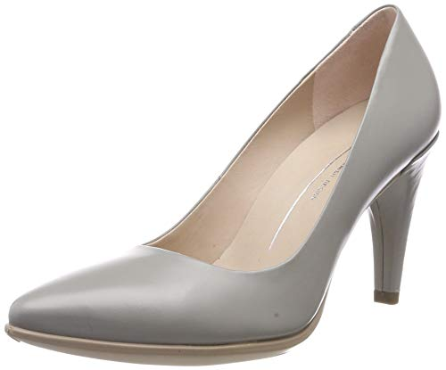 ECCO Damen Shape 75 Pointy Peeptoe Pumps, Grau (Wild Dove 1539), 39 EU Pointy Pumps