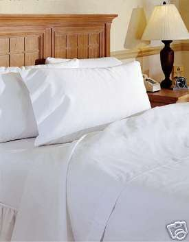 Viceroybedding 100% Egyptian Cotton Duvet Cover, White, Super King 400 Thread Count