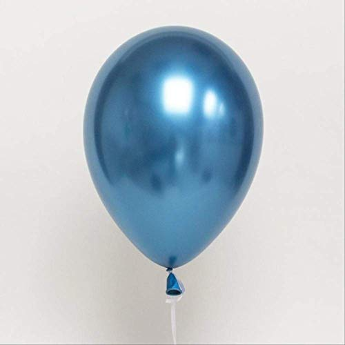 FINJ Ballon 10 Teile / Los Metallic Gold Silber Blau Rose Grün Lila Ballon Hochzeit Alles Gute Zum Geburtstag Latex Metall Chrom Luftballons Blau
