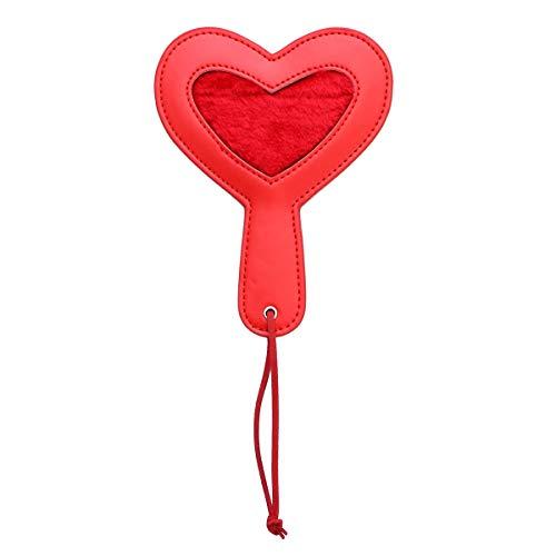 TENDYCOCO Spielzeugpalette Burlas Sexspielzeug PU Leder Herz Schläger für Erwachsene Liebhaber (rot)