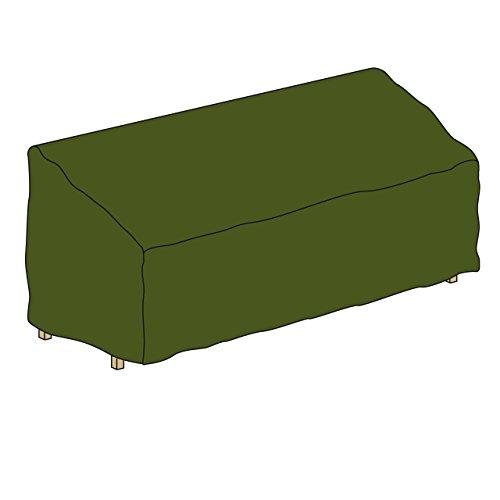Schutzhülle für Gartenbank Abdeckhaube Abdeckplane 180 x 62 x 90 cm aus Polyester wasserdicht grün
