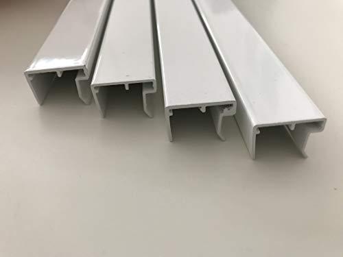 Alu-U-Abschlussprofil 16 mm weiß, 980 mm lang, für den Abschluss von Stegplatten, mit Tropfnase