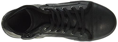 Lepi 3096LEQ Mädchen Hohe Sneakers Schwarz (3096 C.15 NERO)