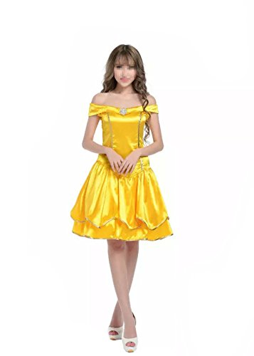Damen Halloween Schneebedeckte Prinzessin Aschenputtel Rollenspiel Kostüm Ponceau Prinzessin Rock Weihnachtskostüm (Kostüme Magd Sexy)