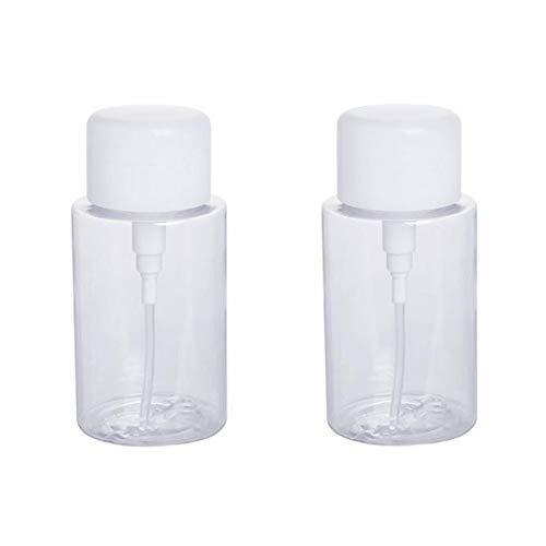 2 STÜCKE 150 ML 5 UNZE Leere Nachfüllbare Durchsichtigen Kunststoff Push Down Pumpe Flasche mit Flip Top Cap Tragbare Make-up Wasser Toner Nagel Wasser Glas Pot Vial Kosmetikbehälter -