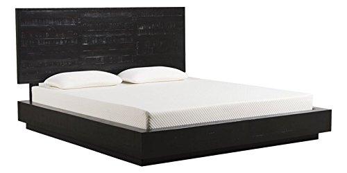 Contemporary Elegant Black Finish Platform King Size Bed - Afydecor