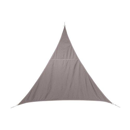 Toile solaire Voile d'ombrage triangulaire 2 x 2 x 2 m en tissu déperlant - Coloris TAUPE