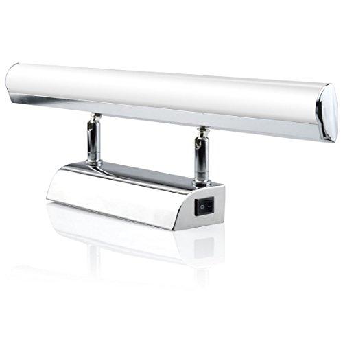 Luxvista 9W 57CM Ángulo Ajustable Aplique Espejo Baño Led Interior con Interruptor con 900Lm Lámpara de Pared Espejo Iluminación para Maquillaje (Blanco Frío 6000K)