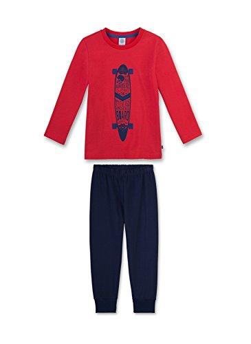 Sanetta Jungen Zweiteiliger Schlafanzug 231996, Rot (Cherry 3476), 104 (Schlafanzug Cherry)