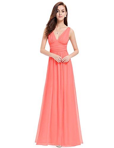 Ever-Pretty Damen Kleid Koralenrot