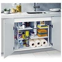 MWS2137 modulaire Étagère 2 niveaux pour l'intérieur d'un placard et meubles (50 x 70 x 40 cm)