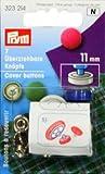 Prym 11mm Knöpfe, 7Stück, Messing silber