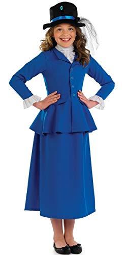Fancy Me Mädchen Schick Reich Viktorianisch Buch Woche Tag Kostüm Kleid Outfit 4-12 Jahre - Blau, 6-8 ()