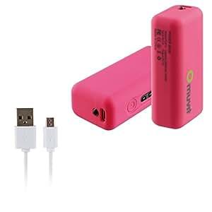 SONY Xperia M2 > Batterie de secours Muvit Power Bank Rose 2600 mAh 1A avec câble USB/Micro USB
