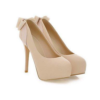 Moda Donna Sandali Sexy donna High-Heels morbida pelle solid pull-sul Round punta chiusa Pumps-Shoes Pink