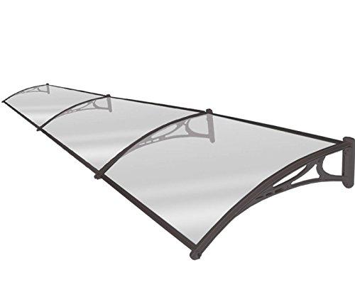 Preisvergleich Produktbild Tür Vordach Shelter Vorderseite Rückseite Veranda Outdoor Schatten Terrasse Abdeckung 80x 360cm schwarz