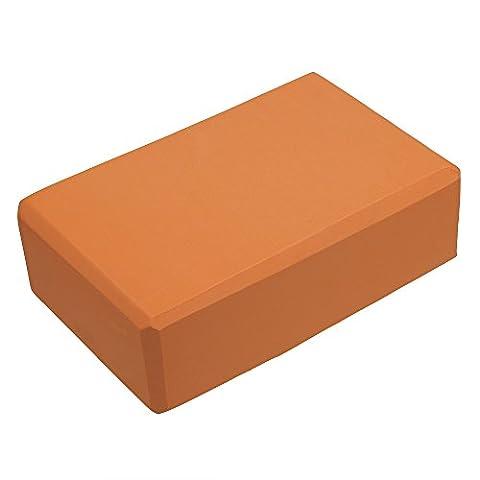 rawdah Yoga Block Brick Übung Fitness EVA Sports Gym Dehnen, Orange