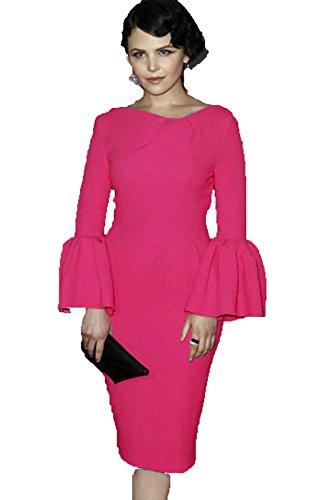 YALI Mit Langen Ärmeln Plissierten Manschetten Rosa Yu Jinxiang In Einem Roten Kleid Und Langen Abschnitten,Rosa,M (Kragen-einzel Manschette-shirt)