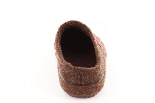 Andres Machado.AM001.AUTHÉNTIQUES chaussons MADE IN SPAIN Unisex.Petites et Grandes Pointures. 26/50 Feutre Marron