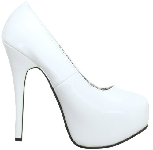 Bordello Teeze-06 Damen Pumps Weiß (Wht pat)