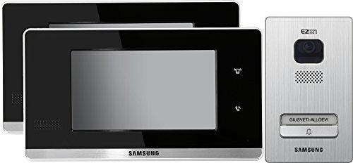 """Samsung Video Türsprechanlage 2x 7\"""" Full-Touch Innenstation mit 1-Fam. Außenstation Komplett Set"""